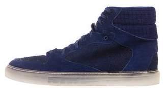 Balenciaga Suede High-Top Sneakers