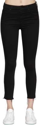 Mother Skinny Lurex Bands Cropped Denim Jeans