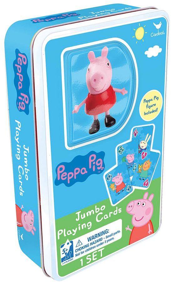 Cardinal Peppa Pig Jumbo Playing Cards & Figure Set by Cardinal