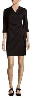 Lafayette 148 New York Solid Wrap Dress