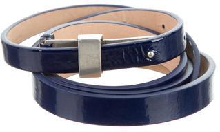 Paul Smith Patent Leather Waist Belt $65 thestylecure.com