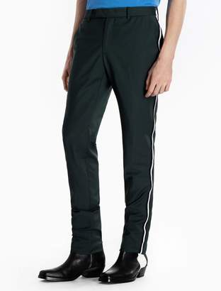Calvin Klein piped wool woven pants
