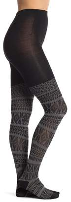 Hue Fair Isle Sweater Tights