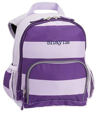 Pottery Barn Kids Fairfax Purple Rugby Stripe Lunch Bag