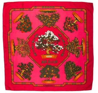 Hermes Bonsai Silk Scarf