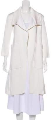 Hermes Knee-Length Silk Coat