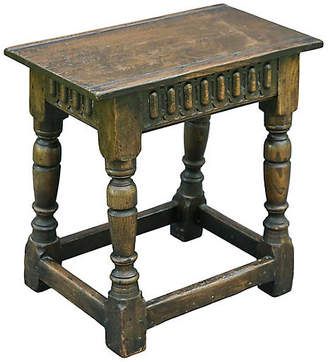 One Kings Lane Vintage 19th-C. English Oak Joint Stool - Faded Rose Antiques LLC