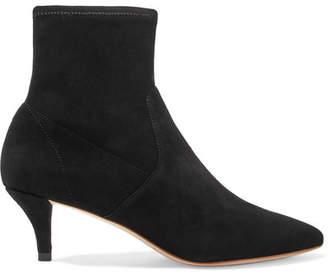 Loeffler Randall Kassidy Suede Sock Boots - Black