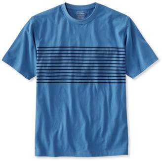 L.L. Bean L.L.Bean Carefree Unshrinkable Tee, Traditional Fit Short-Sleeve Stripe
