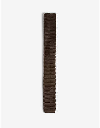 Lanvin Solid knitted square-cut silk tie