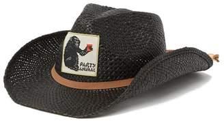 Peter Grimm Headwear Mono Straw Cowboy Hat