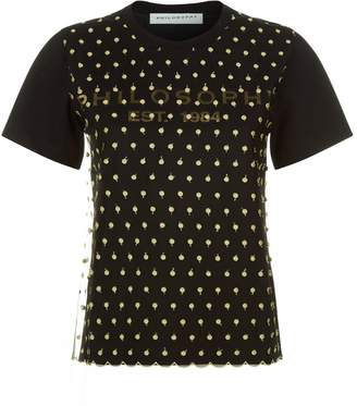 Philosophy di Lorenzo Serafini Embroidered Mesh Layer T-Shirt