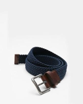 Express Navy Web Stretch Belt