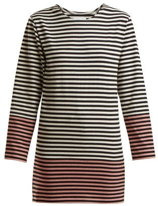 Myar - Striped Cotton Jersey T Shirt - Womens - Pink Multi