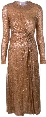Galvan side slit sequin dress