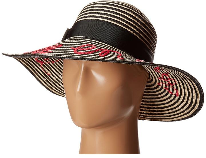 Kate SpadeKate Spade New York - La Vie En Rose Stripe Sun Hat Traditional Hats