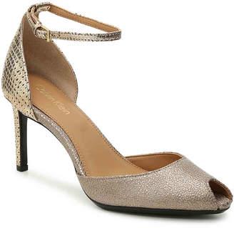 Calvin Klein Saiden Sandal -Grey/Silver Metallic - Women's