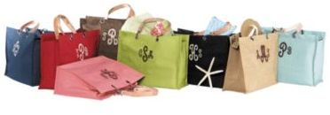 Monogrammed Jute Carry-All
