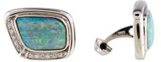 Boulder Opal & Diamond Cufflinks