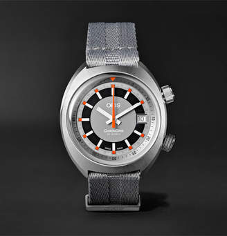 Oris Chronoris Automatic Chronograph 39mm Stainless Steel And Nato Canvas Watch