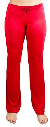 Crown Sporting Goods Soft & Comfy Yoga Pants, 95% Cotton/5% Spandex, Red S