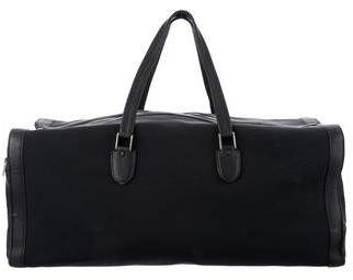 Valextra Leather-Trimmed Canvas Weekender