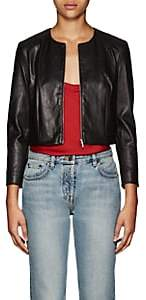 The Row Women's Stanta Crop Leather Jacket - Black