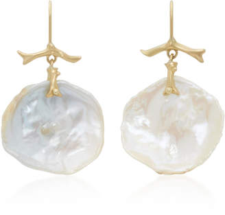 Annette Ferdinandsen 18K Gold Pearl Earrings