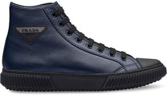 Prada Leather high-top sneakers