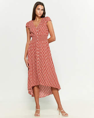 BeBop Floral Button Midi Dress