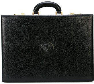 Versace Pre-Owned logo embossed briefcase