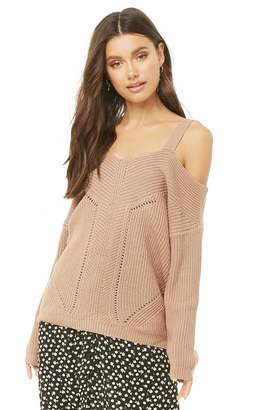 Forever 21 Open-Shoulder Pointelle Sweater