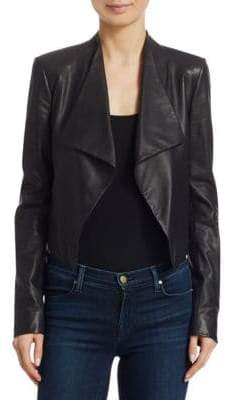 Theory Paperweight Cowl Leather Jacket