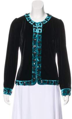 Anna Sui Embellished Velvet Jacket