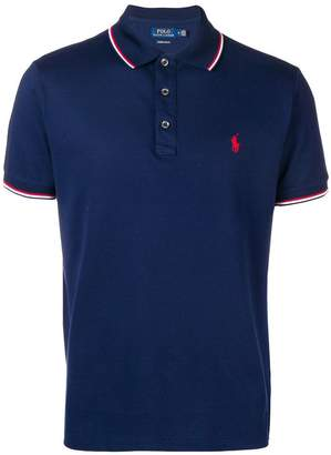 Polo Ralph Lauren stripe tipped polo shirt