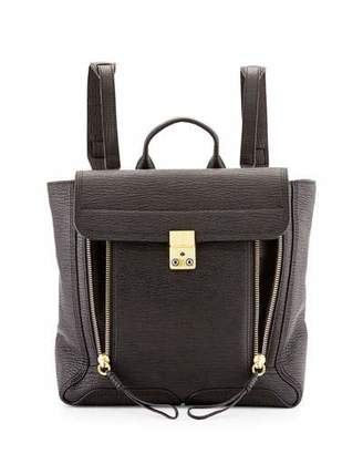 3.1 Phillip Lim Pashli Leather Zip Backpack, Black $975 thestylecure.com