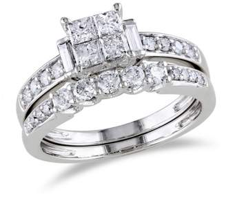 Concerto 14K White Gold Multi-Shape 1 Total Carat Weight Diamonds Wedding Ring Set