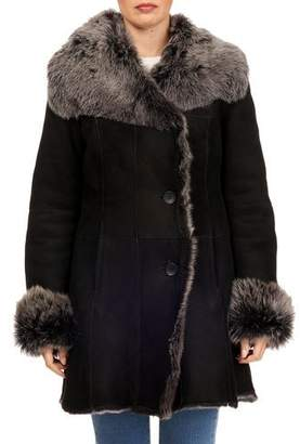 Gorski Toscana Shearling Button-Front Coat