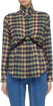 Aalto Drawstring waist tartan plaid shirt