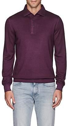 Barneys New York Men's Wool Polo Sweater