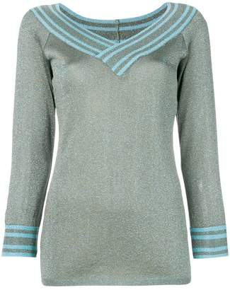 Charlott metallic knitted pullover