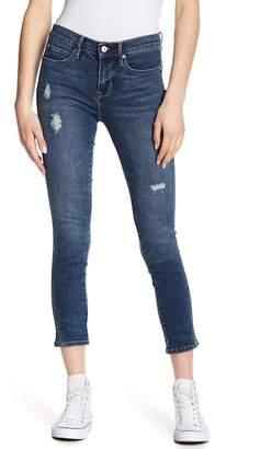 Nicole Miller New York Soho High Waist Slit Cuff Skinny Jeans