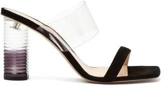 Nicholas Kirkwood Peggy Perspex Heel Leather Mules - Womens - Black
