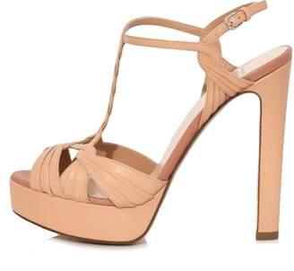 Francesco Russo Platform Sandal in Nude