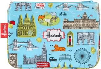 Harrods London Map Cosmetic Bag