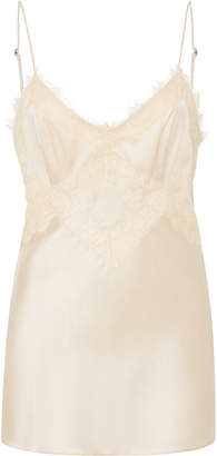 Schumacher Dorothee Shining Delicacy Lace-Trimmed Silk-Blend Camisole
