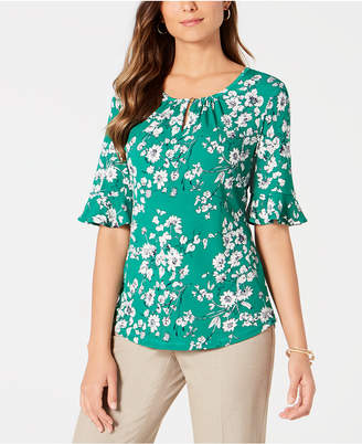Charter Club Petite Elbow-Sleeve Top
