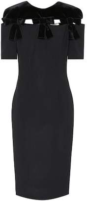 Fendi Wool and velvet midi dress