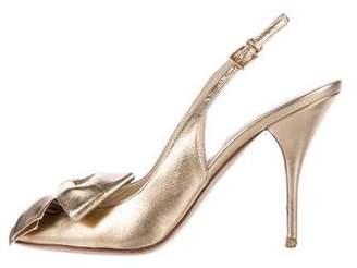 Valentino Metallic Slingback Sandals