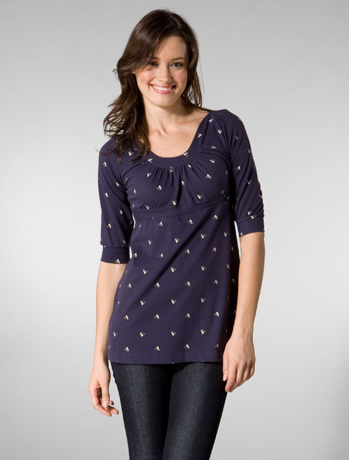 Lewis Cho Scoopneck Tunic in Amethyst Print